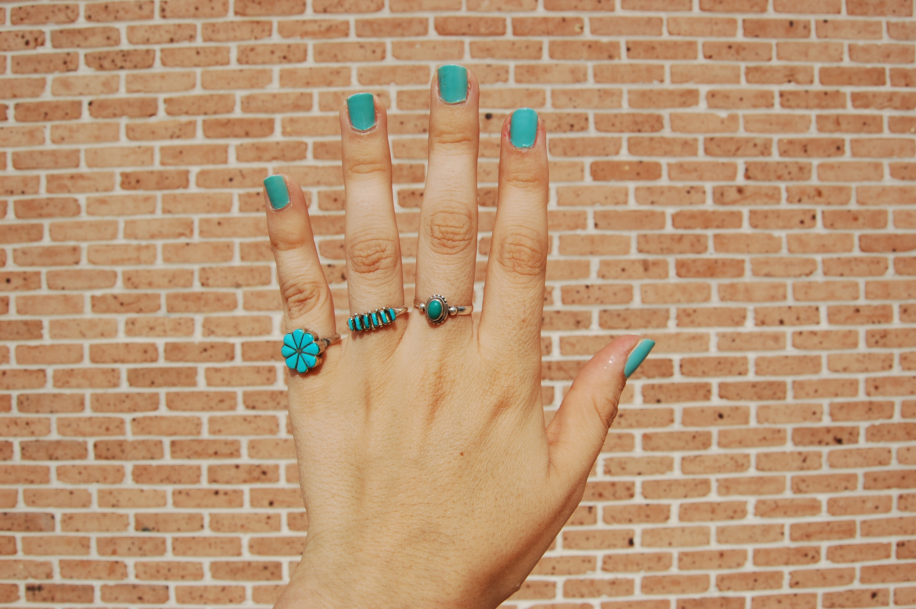 sneak peak denas ring collection james avery wedding bands these are my other three favorite turquoise rings the pinky one i got on my second trip to New Mexico at the White Sands gift shop i m super cheep and